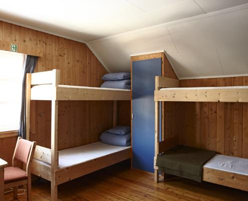 To store soverom med åtte sengeplasser på Åstjernstua.
